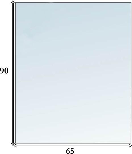 Szyba hartowana pod kominek - piec 90x65