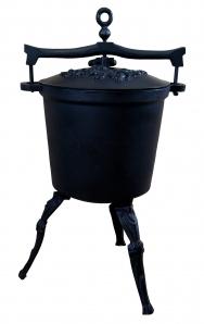 Kociołek myśliwski żeliwny 20 litrów dodatek z brązu
