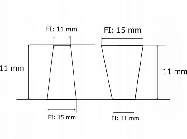 Ruszt żeliwny do kominka pieca 23,5x29,5
