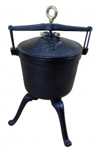 Kociołek myśliwski żeliwny 5 litrów dodatek z brązu
