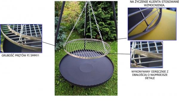 Ruszt stalowy do grilla nierdzewny- 60 cm PRĘT 5mm