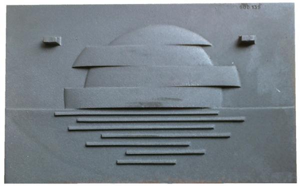 Tylna ścianka płyta żeliwna do wkładu kominka