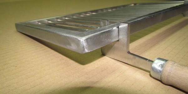 Ruszt do grilla nierdzewny z rączkami na wymiar gruby FI8 MM