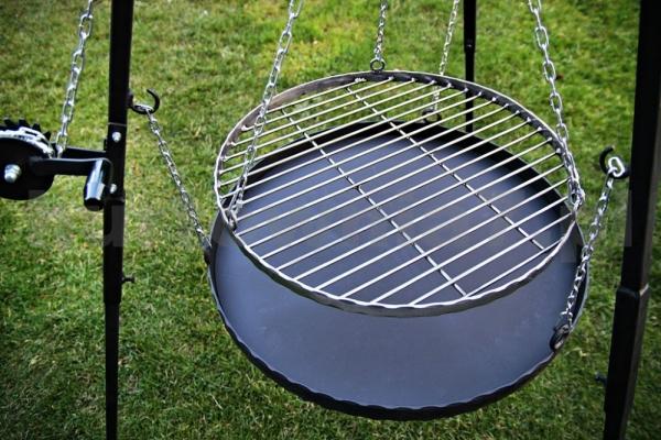 Ruszt stalowy do grilla nierdzewny-70 cm - PRĘT 5 mm