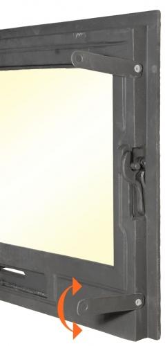 Drzwiczki żeliwne do kominka m1