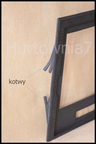 Drzwi, Drzwiczki żeliwne do Kominka D1