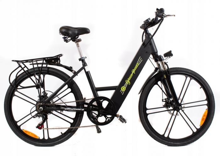 Rower Elektryczny SWIFT LTA-ST006 ALUMINIUM Czarny