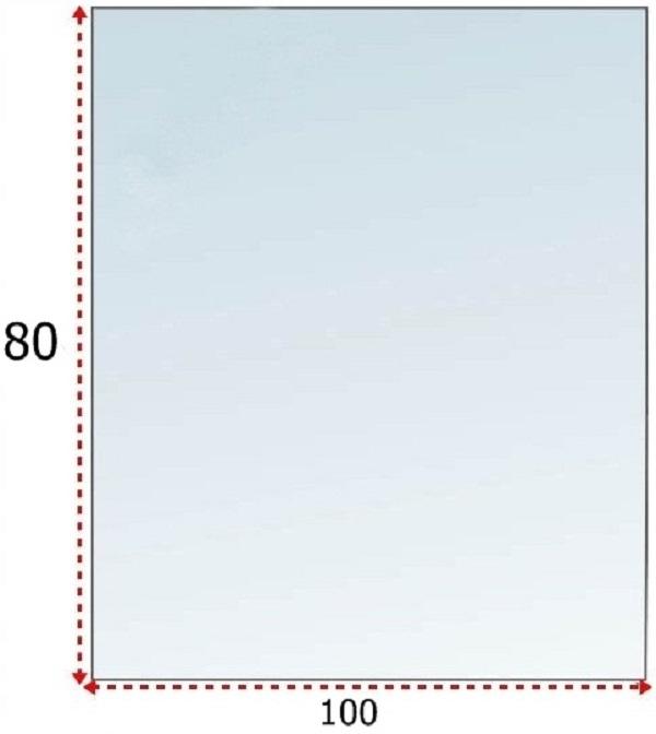 SZYBA SZKŁO POD KOMINEK HARTOWANE PODSTAWA 100x80
