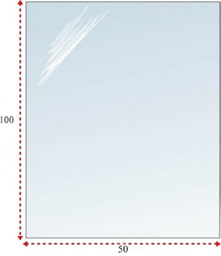 Podstawa szklana, szkło szyba pod piec, kominek- 100X50