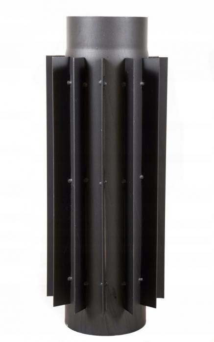Radiator stalowy do pieca 130mm/50cm rura żebrowana