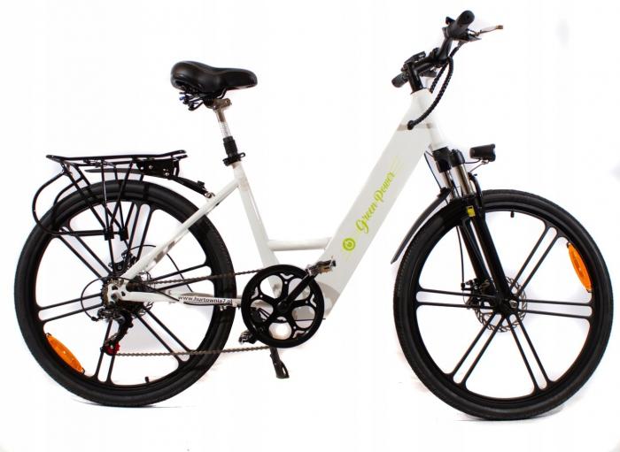 Rower Elektryczny SWIFT LTA-ST006 ALUMINIUM Biały