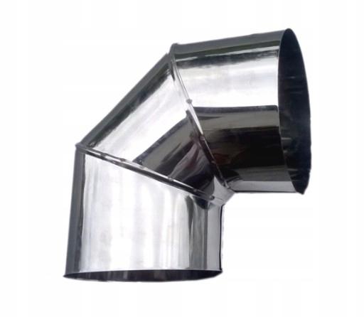kolanko nierdzewne do kominka żaroodporna fi 150 mm