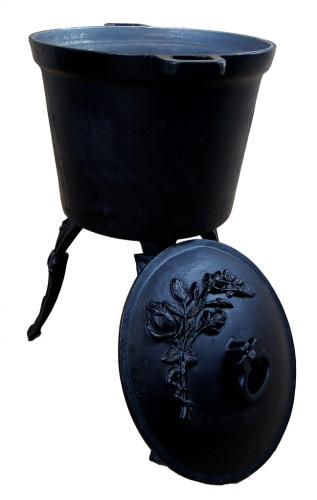 Kociołek myśliwski żeliwny 20 litrów