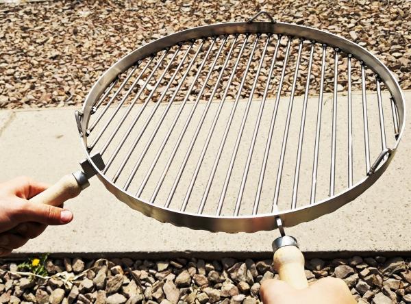 Ruszt nierdzewny okrągły do grilla średnica 70 cm