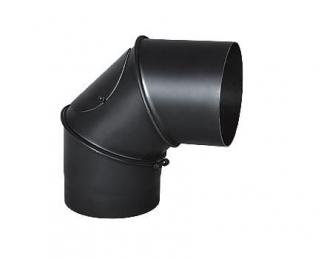Kolanko skrętne dymowe żaroodporne do kominka fi 150 mm, Darco atest regulowane z rewizją