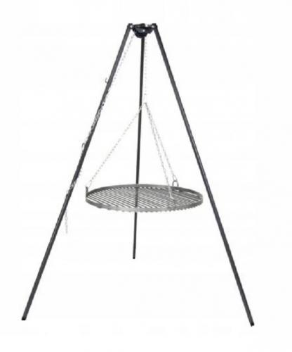 Grill ogrodowy 54 fi żeliwny podwieszany korbka trójnóg