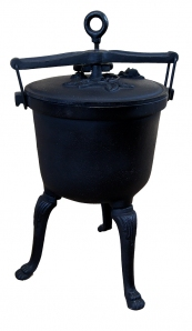 Kociołek myśliwski żeliwny 7  litrów dodatek z brązu