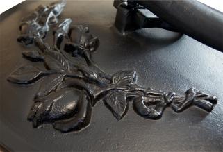 Kociołek myśliwski żeliwny 15 litrów dodatek z brązu