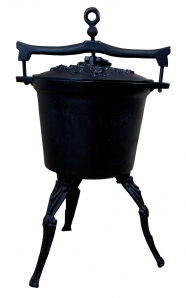 Kociołek myśliwski żeliwny 15 litrów