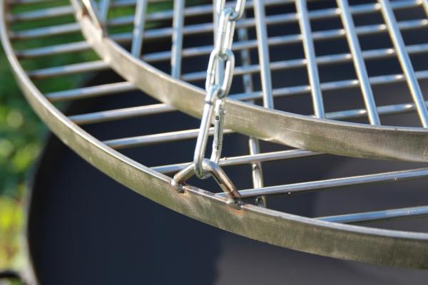 Ruszt nierdzewny okrągły do grilla średnica 50 cm