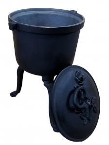 Kociołek myśliwski żeliwny 7 litrów
